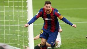 Leo Messi, capitán del FC Barcelona y  jugador con más goles y partidos con la camiseta azulgrana