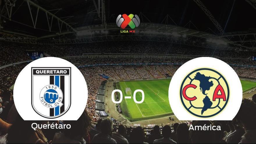 El Querétaro y el América empatan sin goles en el Estadio La Corregidora de Querétaro (0-0)