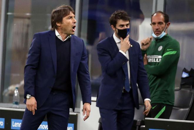 Conte durante su etapa en el Inter