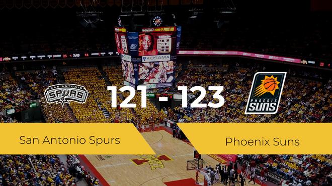 Phoenix Suns se hace con la victoria contra San Antonio Spurs por 121-123