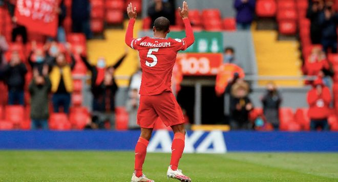 Wijnaldum en su despedida de Anfield