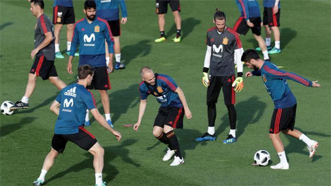 La selección española ya cuenta con todos los internacionales