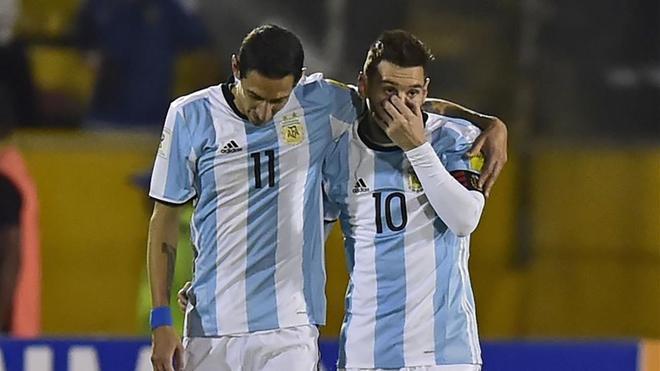 Di María, junto a Messi