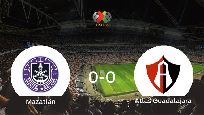 El Mazatlán y el Atlas Guadalajara no encuentran el gol y se reparten los puntos (0-0)