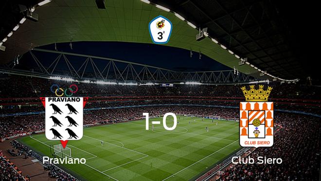 El Praviano gana 1-0 al Club Siero y se lleva los tres puntos