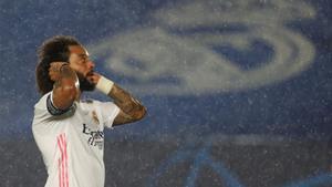 Marcelo durante el partido ante el Chelsea