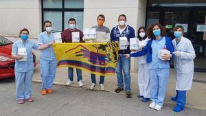 La PB Xàbia hace entrega de material sanitario al Centro de Salud de su localidad
