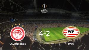 El Olympiakos Piraeus se pone por delante en la primera eliminatoria de dieciseisavos de final después de ganar 4-2 contra el PSV