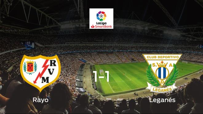 Reparto de puntos en el Campo de Fútbol de Vallecas: Rayo Vallecano1-1 Leganés