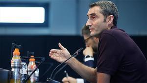 Valverde habló de la ausencia de Rakitic en la convocatoria para el partido ante el Villarreal