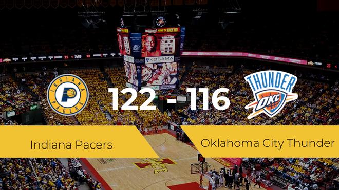 Indiana Pacers consigue ganar a Oklahoma City Thunder (122-116)