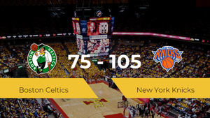 New York Knicks se queda con la victoria frente a Boston Celtics por 75-105