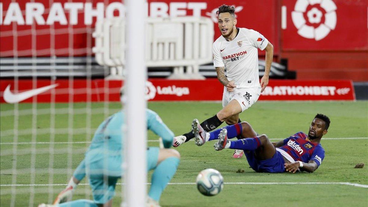 Marc André Ter Stegen ha sido clave en el empate del FC Barcelona en Sevilla