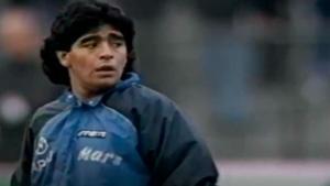 El mítico calentamiento de Maradona