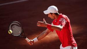 Djokovic, durante la final