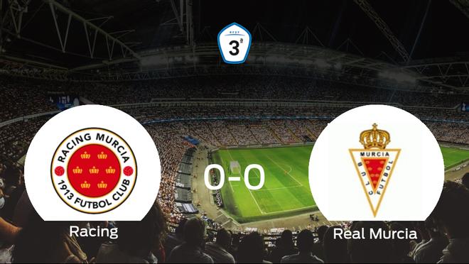 El Racing Murcia y el Real Murcia B firman un empate sin goles (0-0)