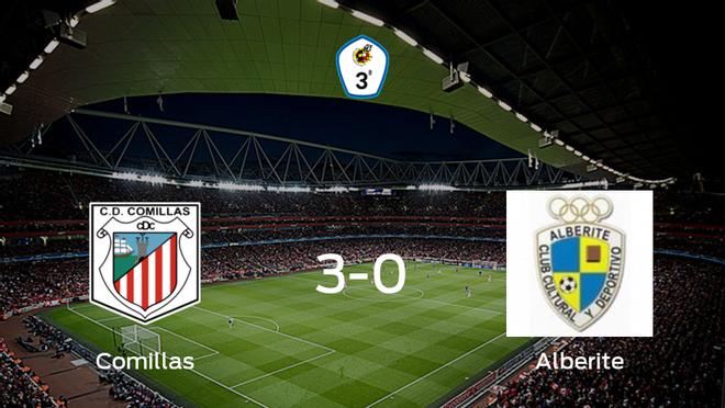 Los tres puntos se quedan en casa: goleada del CD Comillas al Alberite (3-0)