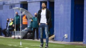 Eder Sarabia durante el duelo ante el Espanyol B