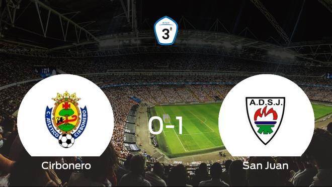 El San Juan DKE gana 0-1 al Cirbonero y se lleva los tres puntos