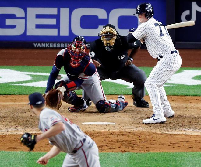 Un instante del New York Yankees-Atlanta Braves.