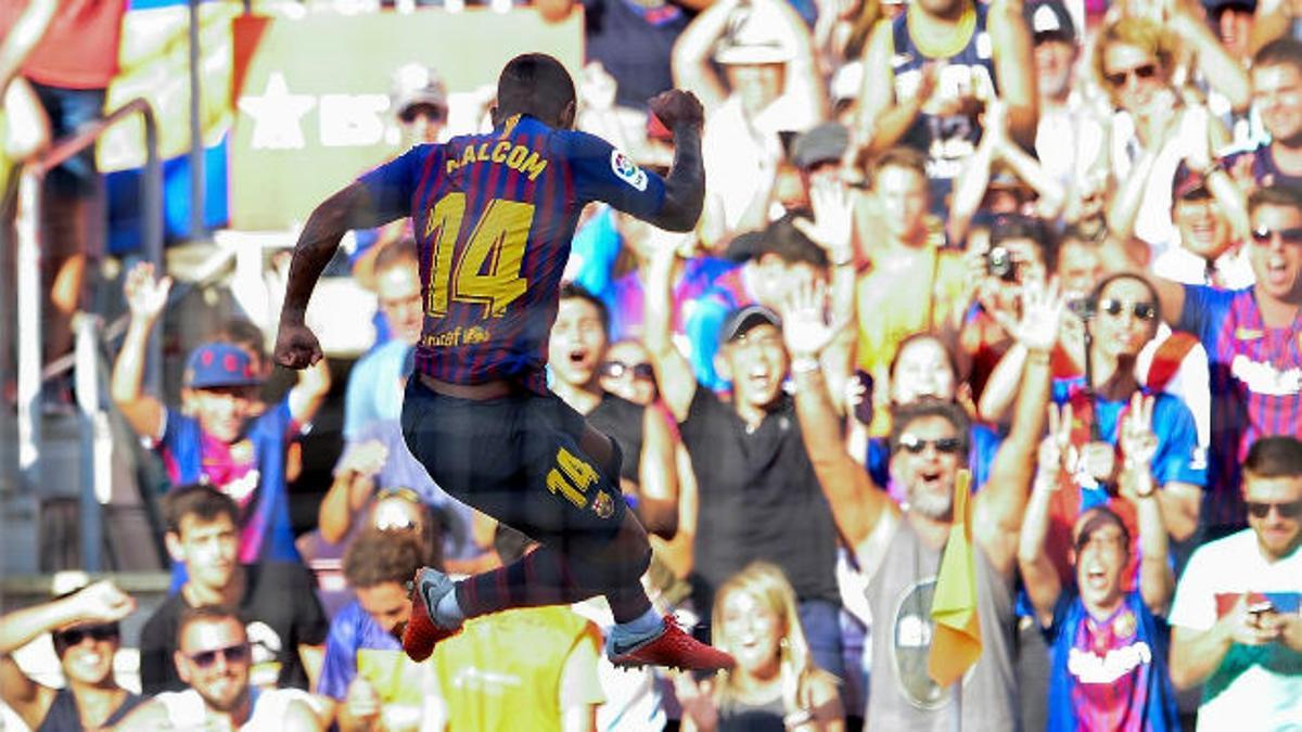 Así fue el estreno goleador de Malcom en el Camp Nou