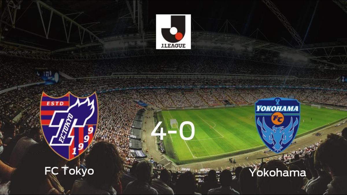 Los tres puntos se quedan en casa: goleada del FC Tokyo al Yokohama (4-0)