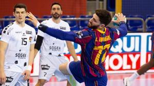 Imagen del duelo de la fase de grupos entre Barça y Nantes