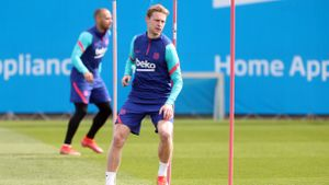 Barcelona return to training before the Copa del Rey final