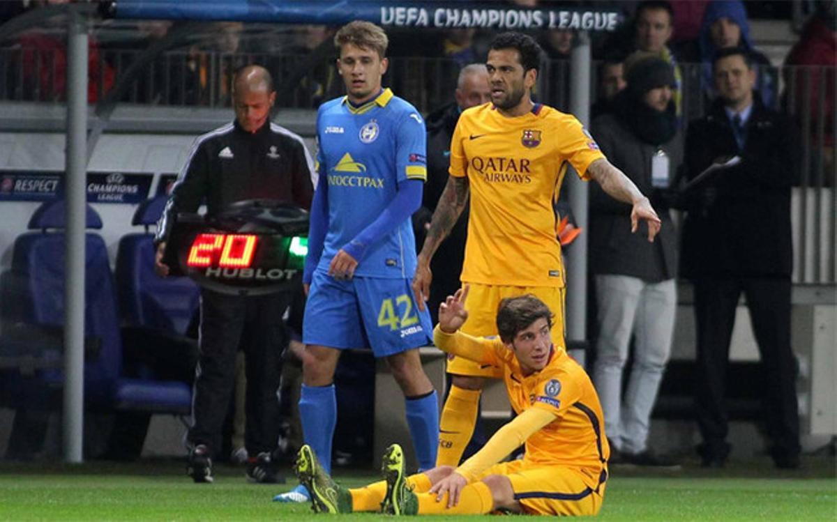 Sergi Roberto acabó lesionado