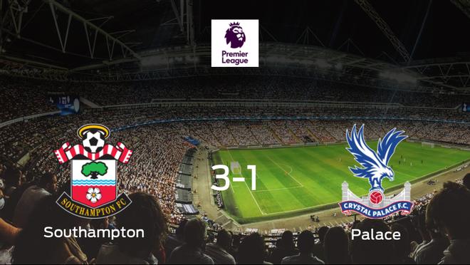 Triunfo del Southampton frente al Crystal Palace (3-1)