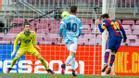 ¡El gol del Pichichi! Messi abrió la lata con un gol de cabeza