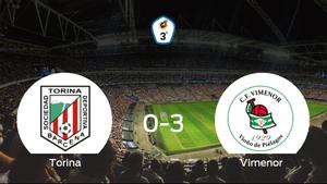 Triunfo del CF Vimenor tras golear 0-3 en el estadio del Torina