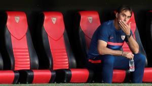 Julen Lopetegui no podrá sentarse el domingo en el banquillo del Camp Nou
