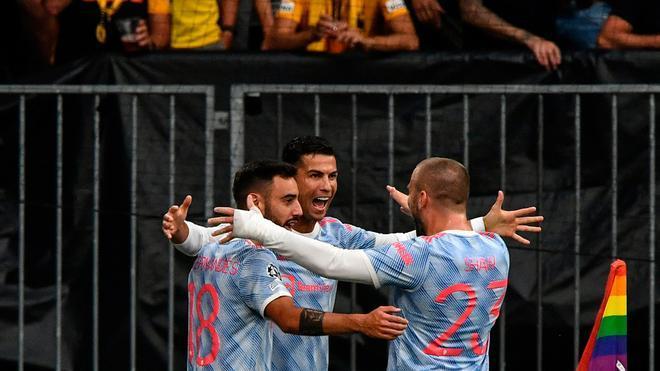 El gol de Cristiano Ronaldo ante el Young Boys con la exquisita asistencia de Bruno Fernandes