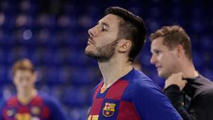 Abel Serdio, pívot del Barça de balonmano