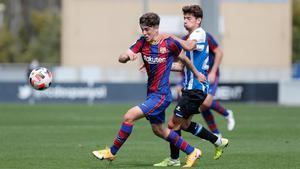 Gavi, en el derbi ante el RCD Espanyol