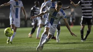 Sergi Palencia, celebrando un gol con el Leganés.