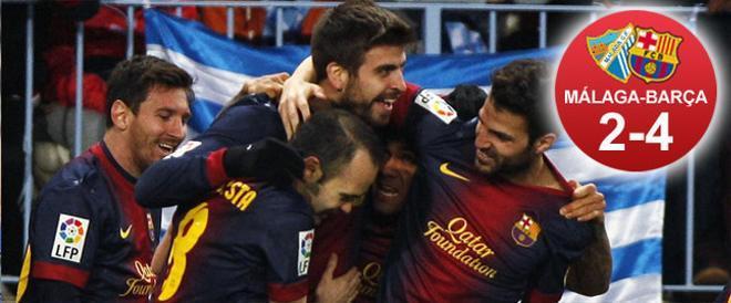 El Barça demostró de nuevo en La Rosaleda que el campeón ha vuelto en la Copa del Rey.Ahora, a por el Real Madrid
