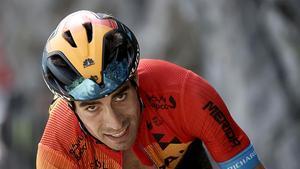 Mikel Landa durante la 18ª etapa de la 107ª edición de la carrera ciclista del Tour de Francia,  el 17 de septiembre de 2020