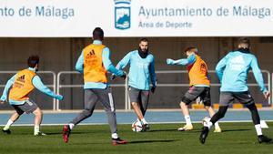 Los jugadores del Real Madrid volvieron a ejercitarse en Málaga