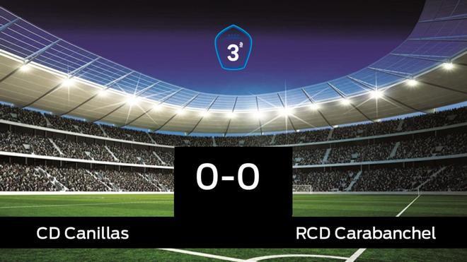 El Canillas no pudo conseguir la victoria frente al RCarabanchel (0-0)