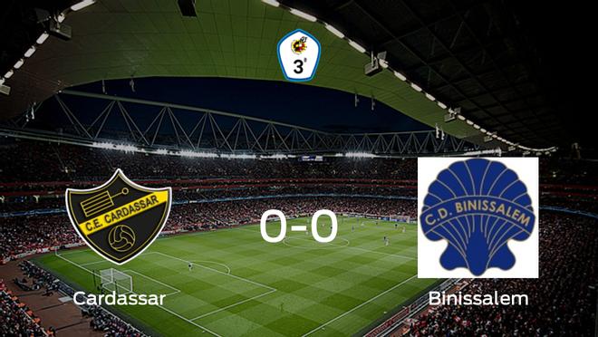 El Cardassar y el Binissalem concluyen su enfrentamiento en el San Lorenzo sin goles (0-0)
