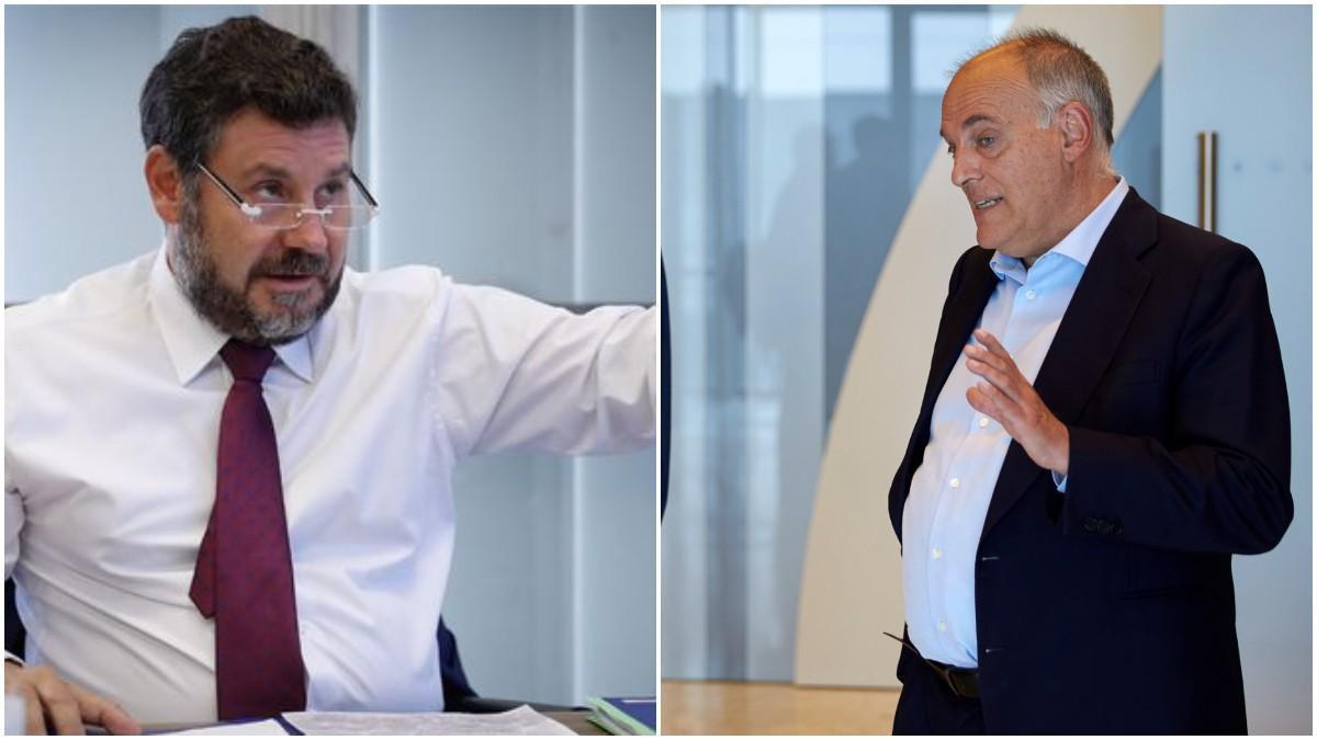 Eduard Romeu y Javier Tebas