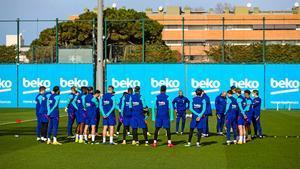 Así ha sido el último entrenamiento del Barça antes del encuentro ante el Alavés