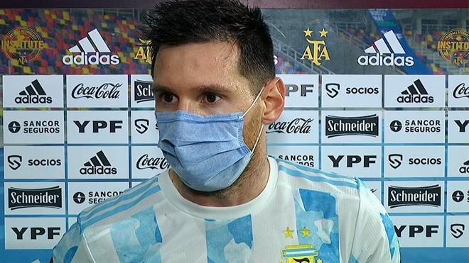 Messi: Fue un partido muy especial por ser el primero sin Maradona