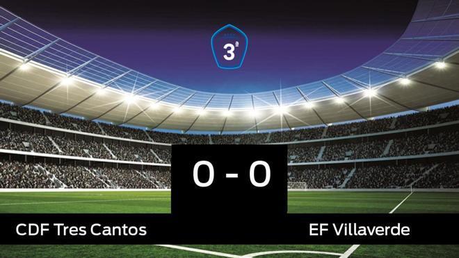 Empate, 0-0, entre el Tres Cantos y el Villaverde
