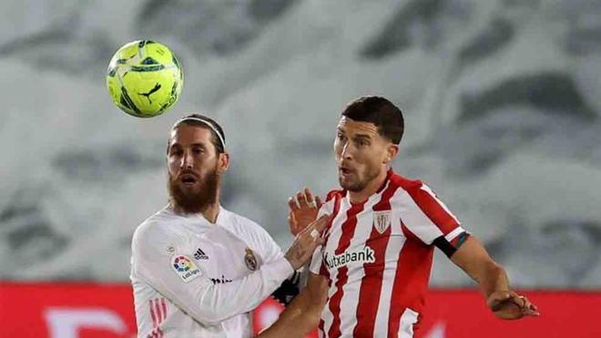 Sergio pasó mucho apuros ante el Athletic
