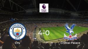 Goleada del Manchester City por 4-0 frente al Crystal Palace