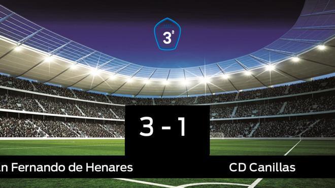 El San Fernando de Henares derrotó a la Canillas por 3-1