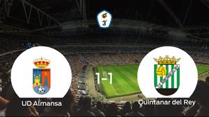 La UD Almansay el Quintanar del Reyse reparten los puntos y empatan 1-1
